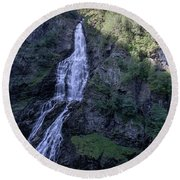 Round Beach Towel featuring the photograph Sivlefossen, Norway by Andreas Levi