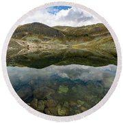 Round Beach Towel featuring the photograph Skarsvotni, Norway by Andreas Levi