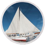 Skipjack Rosie Parks Round Beach Towel