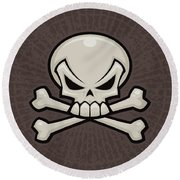 Skull And Crossbones Round Beach Towel