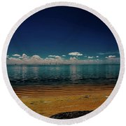 Sky Way Round Beach Towel