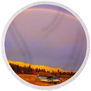 Skylane Rainbow Round Beach Towel