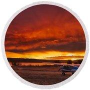 Skylane Sunrise Round Beach Towel
