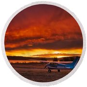 Skylane Sunrise Round Beach Towel