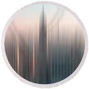 skyline I Round Beach Towel