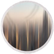 skyline II Round Beach Towel