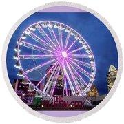 Skystar Ferris Wheel Round Beach Towel