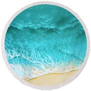 Slow Rollers Round Beach Towel