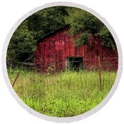 Small Barn 3 Round Beach Towel