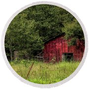 Small Barn Round Beach Towel