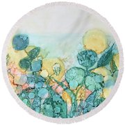 Small Things Round Beach Towel