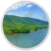 Smith Mountain Lake Round Beach Towel