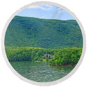 Smith Mountain Lake, Va. Round Beach Towel