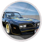 Smokey And The Bandit Trans Am Round Beach Towel