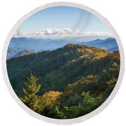 Round Beach Towel featuring the photograph Smoky Mountains by Sharon Seaward