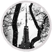 Snow Collection Set 07 Round Beach Towel