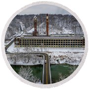 Snow Factory Round Beach Towel