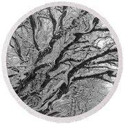 Snow Melt Round Beach Towel