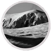 Snow On Cairngorm Round Beach Towel