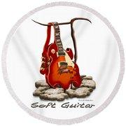 Soft Guitar - 3 Round Beach Towel