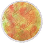 Soft Orange Colors 2 Round Beach Towel