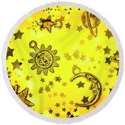 Solar Stars Round Beach Towel