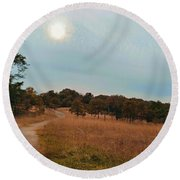 Soldiers Delight Round Beach Towel