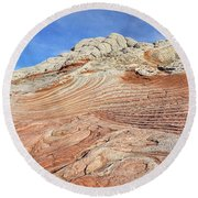 Solid Waves Pano Round Beach Towel