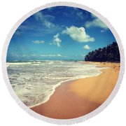 Solitude Beach Round Beach Towel