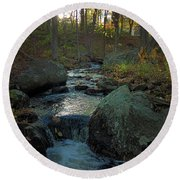 Some Enchanted Evening Round Beach Towel