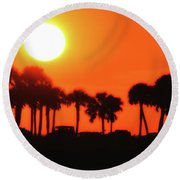 Some Like It Hot Round Beach Towel