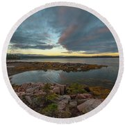 Somes Sound Sunset Round Beach Towel