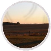 Somme Sunset Round Beach Towel
