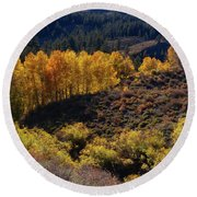 Round Beach Towel featuring the photograph Sonora Pass by Tassanee Angiolillo