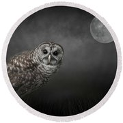 Soul Of The Moon Round Beach Towel