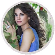 Sound Of Your Heart Round Beach Towel