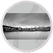 Venice Court, Vancouver Bc, Canada Round Beach Towel