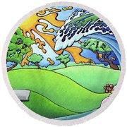 South Texas Disc Golf Round Beach Towel