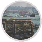Southampton Northam Summer Evening Across The Itchen Round Beach Towel