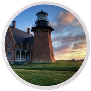 Southeast Light Sunrise Round Beach Towel