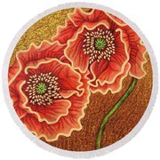 Round Beach Towel featuring the painting Southern Comfort by Amy E Fraser