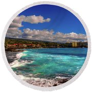 Southern View Of The Shore Round Beach Towel