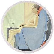 Sovande Sittande Sitting Asleep 2013 06 15-16_0091 4 Mb Up To 61x91 Cm  Round Beach Towel