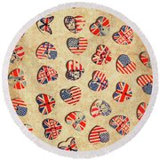 Sovereign State Sentiments Round Beach Towel