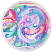 Space Abstract Round Beach Towel