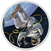 Space Walk Round Beach Towel