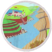 Spanish Wells Round Beach Towel