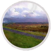 Spean Bridge Painting Round Beach Towel