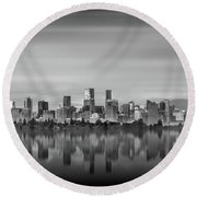 Special View Of Downtown Vancouver Round Beach Towel