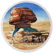 Sphinx - Digital Remastered Edition Round Beach Towel